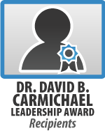 Dr David B Carmichael Leadership Award Recipients