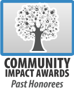 Community Impact Awards Past Honorees Button