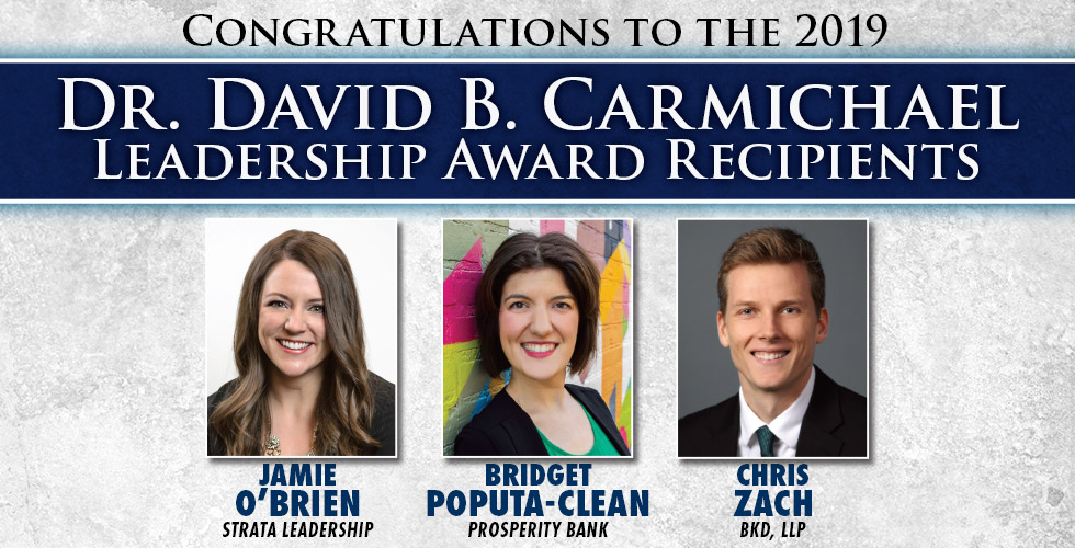 Congratulations to the 2019 Carmichael Award Winners
