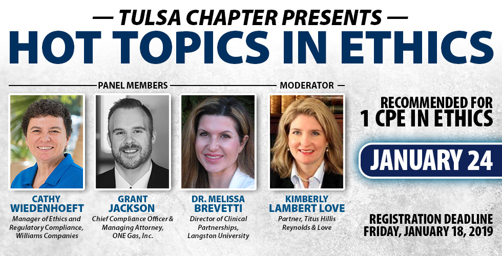 Tulsa Chapter Presents: Hot Topics in Ethics