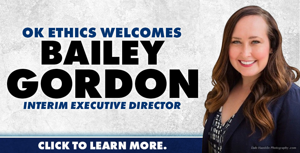 OK Ethics Welcomes Bailey Gordon, Interim Executive Director