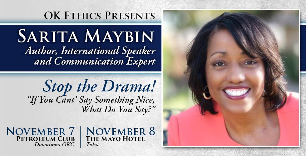 Stop the Drama featuring Sarita Maybin, November 7 and 8