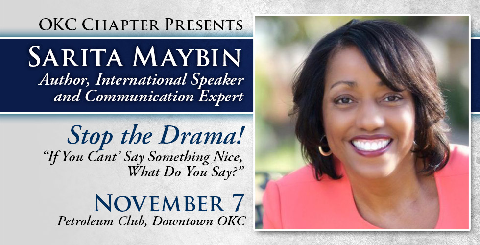 Stop the Drama featuring Sarita Maybin, November 7