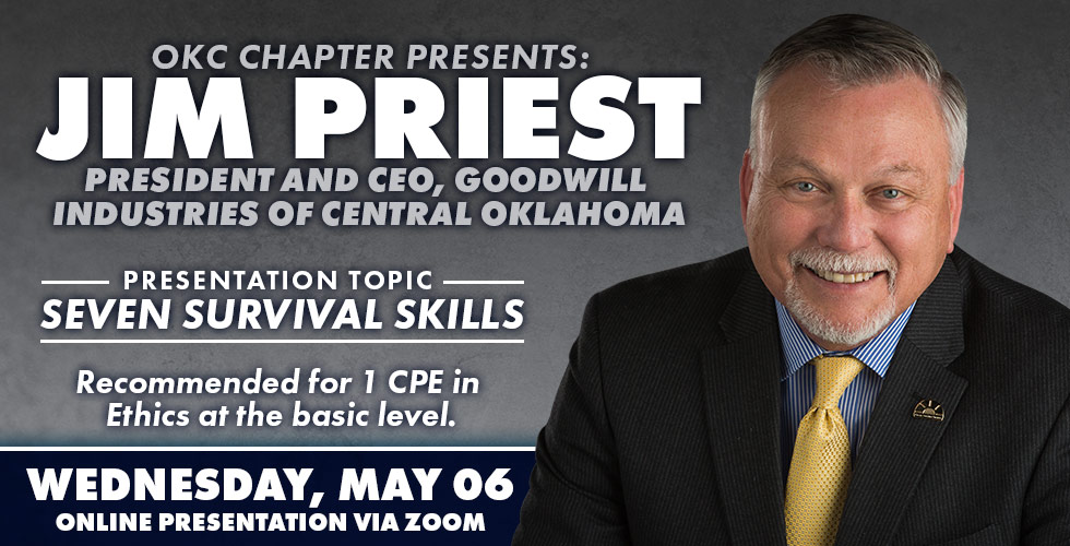OK Ethics Presents Jim Priest, May 6th 2020