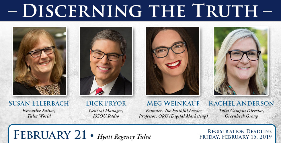 Discerning the Truth Panel, Tulsa Chapter, February 2019