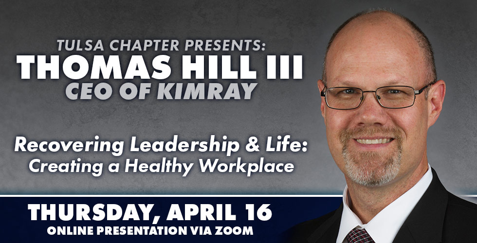 OK Ethics Tulsa Chapter Presents Thomas Hill III on April 16th